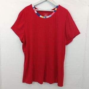 Lane Bryant Red Shirt size 18/20 Stretch Knit